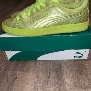 Neon Green Women's Puma Sneakers